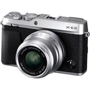 FX-E3LK23F2S 富士フイルム デジタル一眼カメラ「X-E3」XF23mmF2 R WR キット(シルバー)