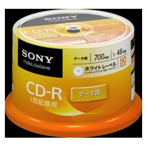 50CDQ80GPWP ソニー 48倍速対応CD-R 50枚パック700MB ホワイトプリンタブル