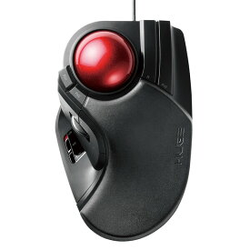 M-HT1URBK エレコム トラックボール 8ボタン 人差し指・中指操作タイプ(ブラック) ELECOM HUGE