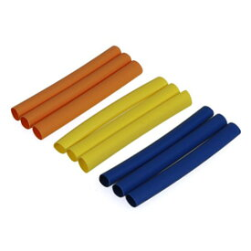 (S10)3カラー収縮チューブ 5mm(青・黄・橙) 各3pcs【3125】 ラジコンパーツ イーグル模型
