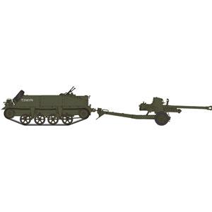 1/35 英・ロイドキャリアー+6ポンド対戦車砲・フィギア1体付き【CB35189】 ブロンコ