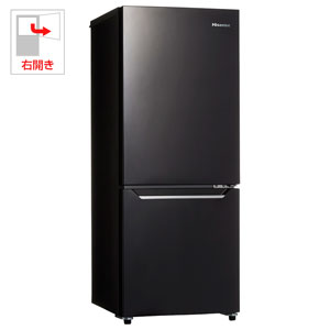 (標準設置料込)HR-D15CB ハイセンス 150L 2ドア冷蔵庫(パールブラック)【右開き】 Hisense