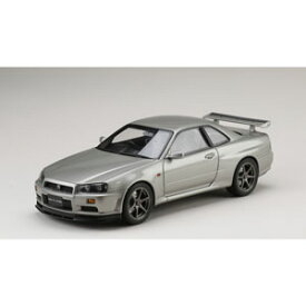 1/18 ニッサン スカイライン GT-R V・スペック 1999 (BNR34) ソニックシルバー(M)【HJ1809S】 ミニカー ホビージャパン