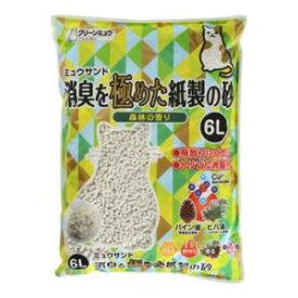 ミュウサンド 消臭を極めた紙製の砂 6L クリーンミュウ シーズイシハラ シヨウシユウヲキワメタカミスナ6L
