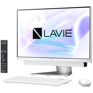 PC-DA770KAW NEC 23.8型デスクトップパソコン LAVIE Desk All-in-one DA770/KA ホワイトシルバー LAVIE 2018年春モデル(Core i7/メモリ8GB/HDD3TB/Office H&B/TVチューナー) [PCDA770KAW]【返品種別A】