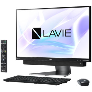 PC-DA870KAB NEC 23.8型デスクトップパソコン LAVIE Desk All-in-one DA870/KAB ダークシルバー LAVIE 2018年 春モデル(Core i7/メモリ8GB/HDD3TB/TVチューナー/Office H&B) [PCDA870KAB]【返品種別A】