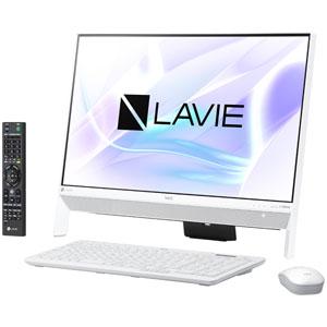PC-DA700KAW NEC 23.8型デスクトップパソコン LAVIE Desk All-in-one DA700KA ファインホワイト LAVIE 2018年 春モデル(Core i7/メモリ4GB/HDD1TB/TVチューナー/Office H&B) [PCDA700KAW]【返品種別A】