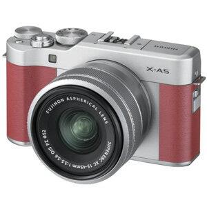 【エントリーでP5倍 8/20 9:59迄】FX-A5LKP 富士フイルム デジタル一眼カメラ「X-A5」レンズキット(ピンク)