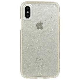 CM036242 Case-Mate iPhone XS/X用 シャンパンゴールドラメ タフクリアケース 耐衝撃 Case-Mate(ケースメイト)iPhone X Sheer Glam-Champagne