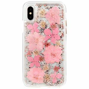 CM036258 Case-Mate iPhone XS/X用 カラットクリアケース 耐衝撃 ハイブリット二重構造(ピンク) Case-Mate(ケースメイト)iPhone X Karat Petals Case-Pink