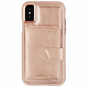 CM036286 Case-Mate iPhone XS/X用 コンパクトミラー付きケース 耐衝撃 ハイブリッド二重構造(ローズゴールド) Case-Mate(ケースメイト)iPhone X Comapct Mirror Case-Rose Gold