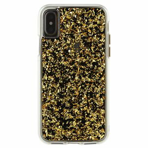 CM036703 Case-Mate iPhone X用カラットクリアケース 耐衝撃 ハイブリット二重構造(ゴールド) Case-Mate(ケースメイト)iPhone X Karat Case-Gold