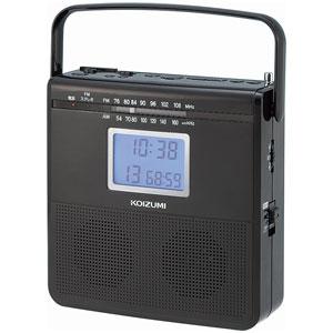 SAD-4703-K コイズミ ワイドFM対応CDラジオ(ブラック) KOIZUMI