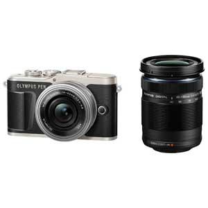 E-PL9 WZKIT(ブラツク) オリンパス ミラーレス一眼カメラ「OLYMPUS PEN E-PL9」EZダブルズームキット(ブラック)