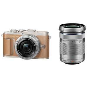 E-PL9 WZKIT(ブラウン) オリンパス ミラーレス一眼カメラ「OLYMPUS PEN E-PL9」EZダブルズームキット(ブラウン)【送料無料】