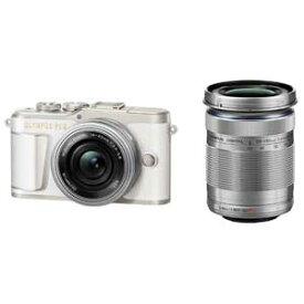 E-PL9 WZKIT(ホワイト) オリンパス ミラーレス一眼カメラ「OLYMPUS PEN E-PL9」EZダブルズームキット(ホワイト)