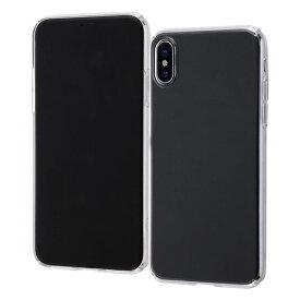 RT-P16TC90N/CM レイ・アウト iPhone XS/X用 ハードケース 軽量 フレキシブル (クリア)