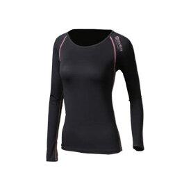 JW-539-40-M ボディタフネス BTアウトラスト ロングスリーブ クルーネックシャツ レディース (ブラック×ピンク・Mサイズ) BODY TOUGHNESS おたふく手袋