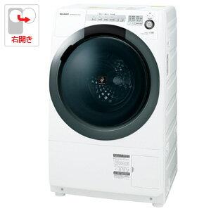 (標準設置料込)ES-S7C-WR シャープ 7.0kg ドラム式洗濯乾燥機【右開き】ホワイト系 SHARP プラズマクラスター洗濯乾燥機 コンパクトドラム
