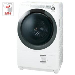 (標準設置料込)ES-S7C-WL シャープ 7.0kg ドラム式洗濯乾燥機【左開き】ホワイト系 SHARP プラズマクラスター洗濯乾燥機 コンパクトドラム
