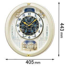 RE-579-S セイコークロック 電波からくり時計 セイコーメロディ [RE579S]【返品種別A】