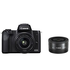 EOSKISSMBK-WLK キヤノン ミラーレス一眼カメラ「EOS Kiss M」ダブルレンズキット(ブラック) Canon