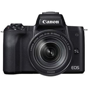 EOSKISSMBK-18150IS キヤノン ミラーレスカメラ「EOS Kiss M」EF-M18-150 IS STM レンズキット(ブラック) [EOSKISSMBK18150IS]【返品種別A】