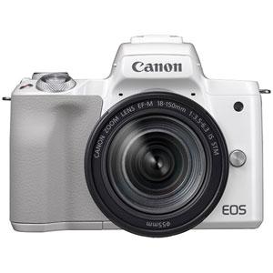 EOSKISSMWH-18150IS キヤノン ミラーレス一眼カメラ「EOS Kiss M」EF-M18-150 IS STM レンズキット(ホワイト) Canon
