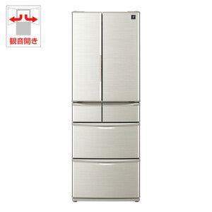 (標準設置料込)SJ-F462D-S シャープ 455L 6ドア冷蔵庫(シルバー系) SHARP プラズマクラスター冷蔵庫 [SJF462DS]【返品種別A】
