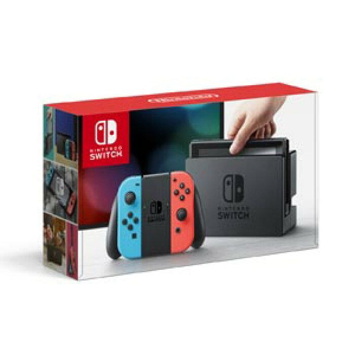 【クーポンプレゼント対象】Nintendo Switch 本体【Joy-Con(L) ネオンブルー/(R) ネオンレッド】 任天堂 [HAC-S-KABAA NSWホンタイネオン]【送料無料】