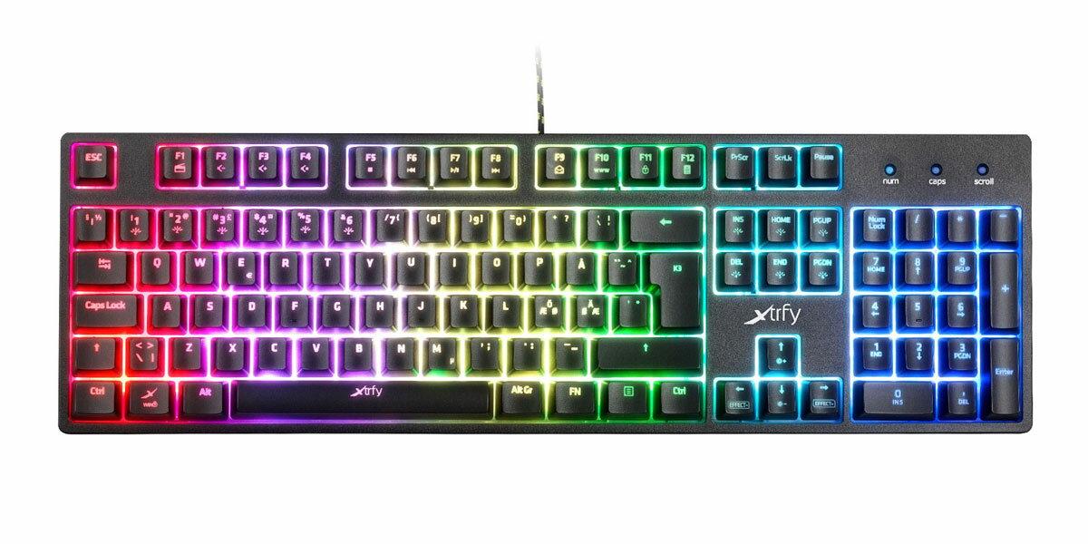 701061 Xtrfy Mem-カニカル構造 ゲーミングキーボード K3-RGB LEDイルミ 赤軸 英語配列 105キー【日本正規代理店保証品】 エクストリファイ Gaming keyboard with RGB LED illumination. XG-K3-RGB-US