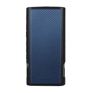 Fullarmor Case For WALKMAN NW-ZX300 Black/CarbonBlue カンパーニュ ウォークマン NW-ZX300用 フルアーマーケース (ブラック/カーボンブルー) 武蔵野レーベル