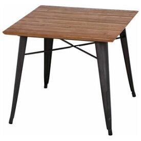 50597 不二貿易 スチールテーブル ニレ材天板 TABLE
