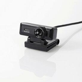 UCAM-C750FBBK エレコム PCカメラ 500万画素 マイク内蔵 高精細ガラスレンズ(ブラック)