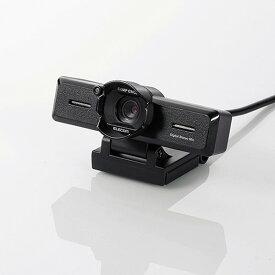UCAM-C980FBBK エレコム PCカメラ 800万画素 ステレオマイク内蔵 高精細ガラスレンズ レンズフード付(ブラック)