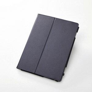 TBD-HW51APLFBK エレコム d tab d-01K、HUAWEI Media Pad M3 Lite 10wp用 ソフトレザーカバー 2アングル(ブラック)