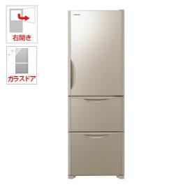(標準設置料込)R-S38JV-XN 日立 375L 3ドア冷蔵庫(クリスタルシャンパン)【右開き】 HITACHI