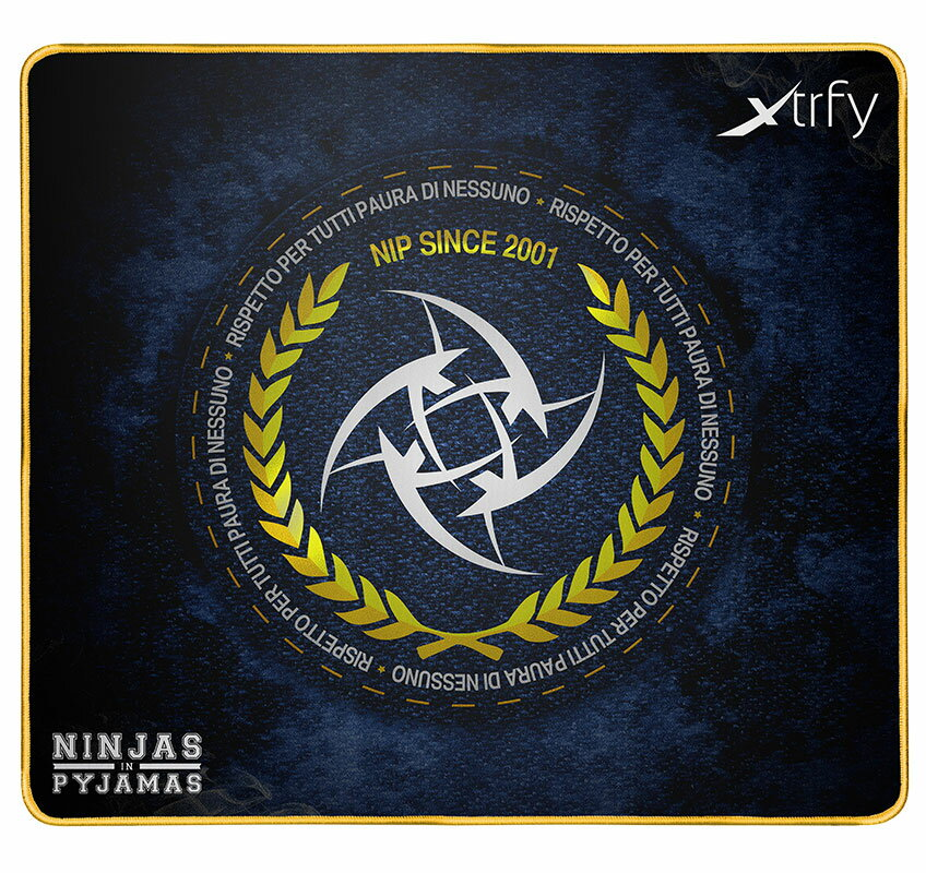701010 Xtrfy ゲーミングマウスパッド XTP1 NIP ITALIAN LARGE【国内正規品】 エクストリファイ Large-sized gaming mousepad. Ninjas in Pyjamas Italian edition.