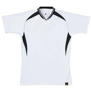 Z-BOT740A-1119-2XO ゼット ベースボールシャツ(1つボタン)(ホワイト/ブラック・サイズ:2XO) ベースボールシャツ(1つボタン)