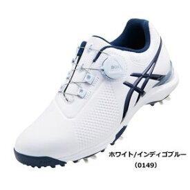 TGN924 0149WHIB 25.5 アシックス レディース・スパイク・ゴルフシューズ(ホワイト/インディゴブルー・25.5cm) GEL-ACE TOUR-LADY Boa