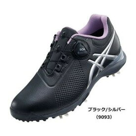 TGN924 9093BKSL 25.0 アシックス レディース・スパイク・ゴルフシューズ(ブラック/シルバー・25.0cm) GEL-ACE TOUR-LADY Boa