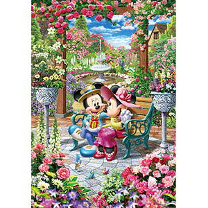 ディズニー 恋咲くロイヤルガーデン ピュアホワイト ぎゅっと500ピース ジグソーパズル テンヨー 【Disneyzone】