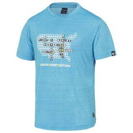 CBE281320-2200-O コンバース メンズ BACKCOURT EDITION プリントTシャツ(裾ラウンド)(サックス・サイズ:O) CONVERSE