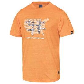 CBE281320-5600-M コンバース メンズ BACKCOURT EDITION プリントTシャツ(裾ラウンド)(オレンジ・サイズ:M) CONVERSE