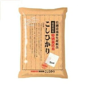 特別栽培米 福島すかがわ岩瀬こしひかり 5kg 福島県 トクサイフクシマコシヒカリ5キロ