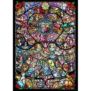 ディズニー&ディズニー/ピクサー ヒロインコレクション ステンドグラス 2000ピース ジグソーパズル テンヨー 【Disneyzone】