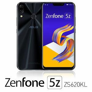 ZS620KL-BK128S6 エイスース ASUS ZenFone 5Z (ZS620KL) シャイニーブラック 6.2インチ SIMフリースマートフォン[メモリ 6GB/ストレージ 128GB]