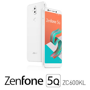 ZC600KL-WH64S4 エイスース ASUS ZenFone 5Q (ZC600KL) ムーンライトホワイト 6インチ SIMフリースマートフォン[メモリ 4GB/ストレージ 64GB]