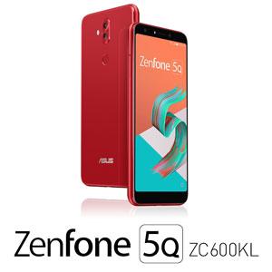 ZC600KL-RD64S4 エイスース ASUS ZenFone 5Q (ZC600KL) ルージュレッド 6インチ SIMフリースマートフォン[メモリ 4GB/ストレージ 64GB]
