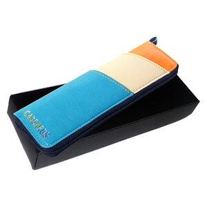 CAPC-T8C キャサロス トリコロールペンケース ギフトBOX入り(オレンジ) CASSAROS